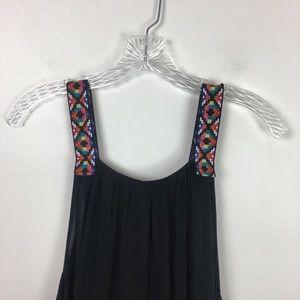 Cacique Swim - Cacique Swim Embroidered Tassel Swimsuit Cover